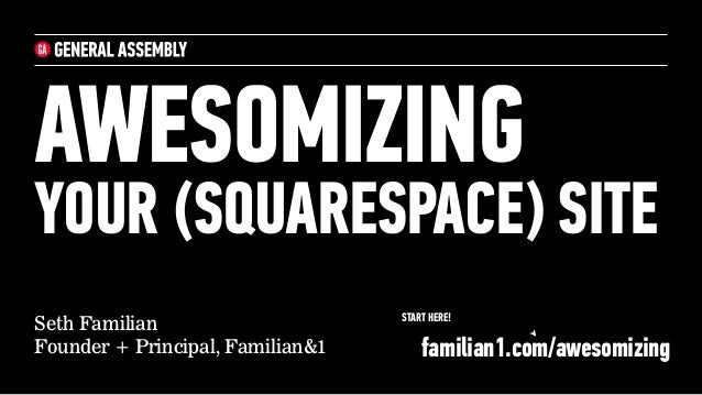 Awesomizing your Squarespace Website