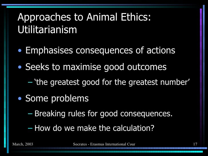 a philosophical approach to animal rights philosophy essay In distinction from this work in the philosophy of mind, the philosophical  tom regan's the case for animal rights  the general philosophical approach.