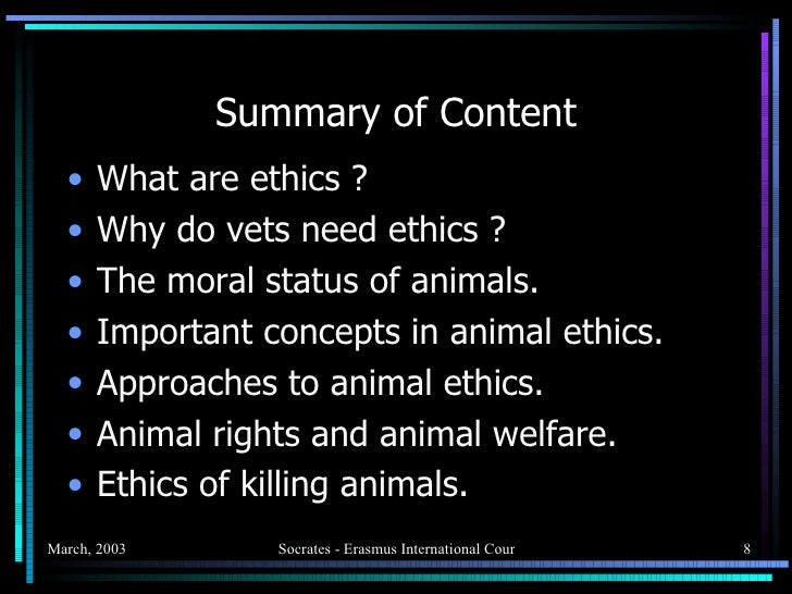 the ethics of killing animals for When considering the ethical aspects of eating meat, i personally often found myself nostalgically imagining the human as part of a natural circle of life—where animals kill and eat each other to survive.