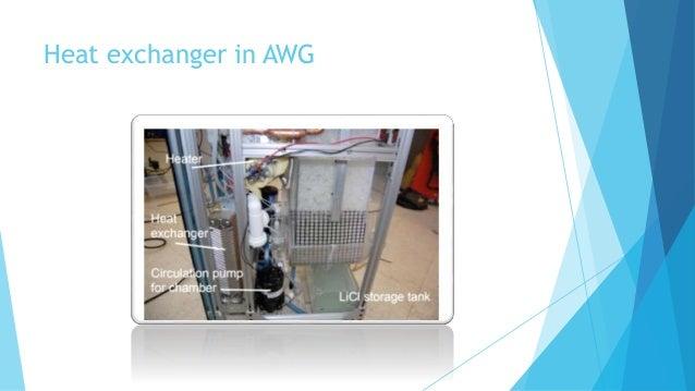 Heat exchanger in AWG