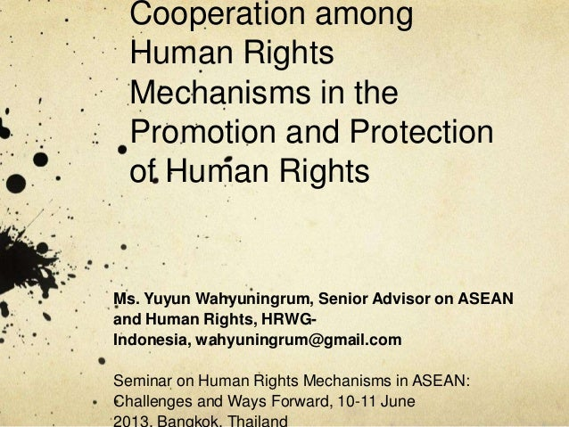 Cooperation among Human Rights Mechanisms in the Promotion and Protection of Human Rights  Ms. Yuyun Wahyuningrum, Senior ...