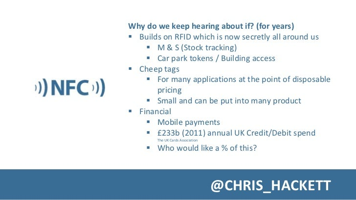 A Whistle Stop Introduction to NFC Slide 3