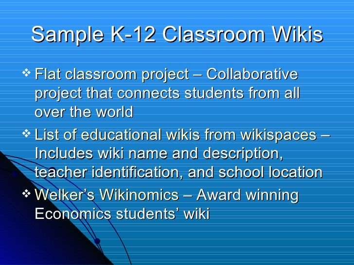 Collaborative Teaching Wiki ~ A wiki guide for teachers
