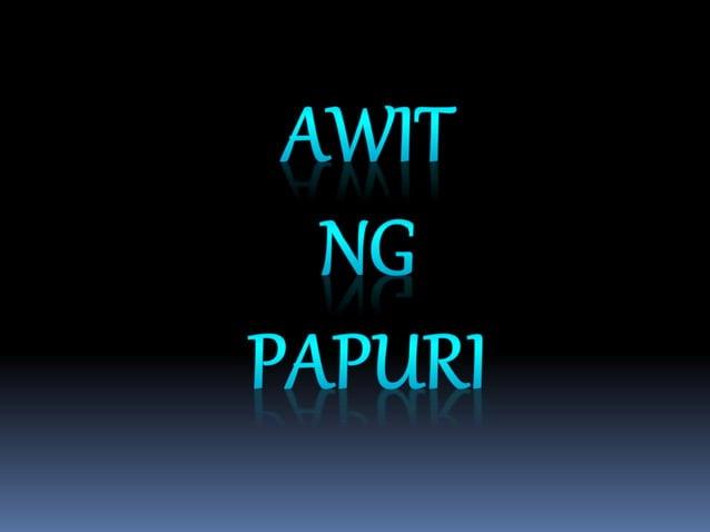 AWIT NG