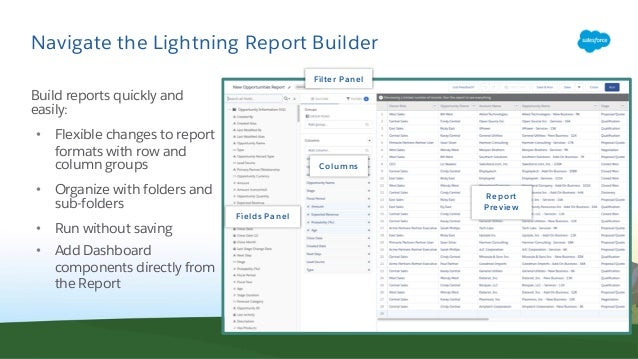 Master the New Lightning Report Builder
