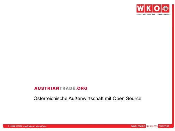 Österreichische Außenwirtschaft mit Open Source