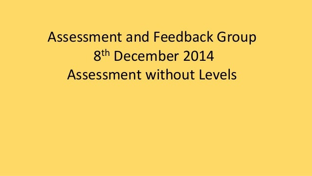 Assessment and Feedback Group  8th December 2014  Assessment without Levels