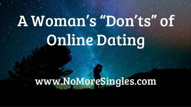 online dating do and don ts