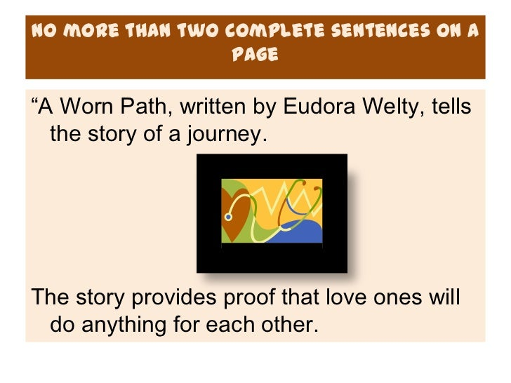 an analysis of the story a worn path by eudora welty