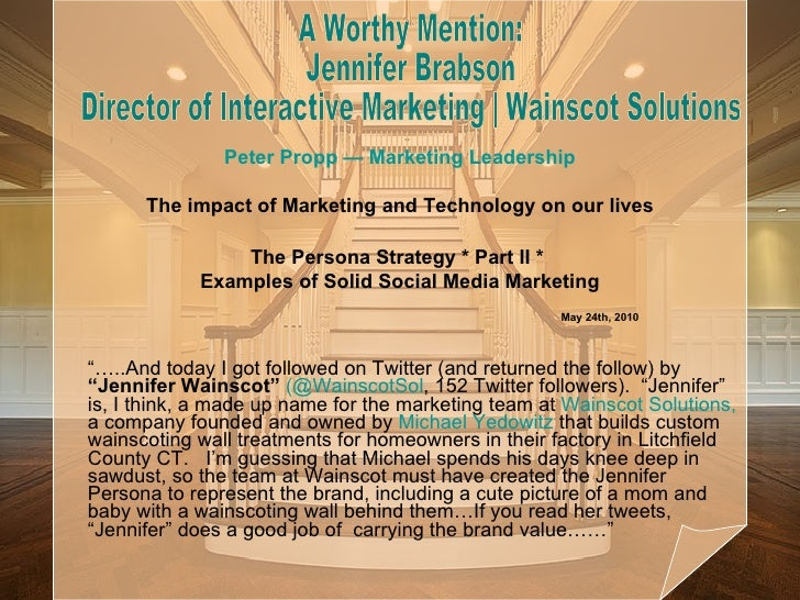 """… ..And today I got followed on Twitter (and returned the follow) by  ""Jennifer Wainscot""   (@ WainscotSol , 152 Twitter ..."