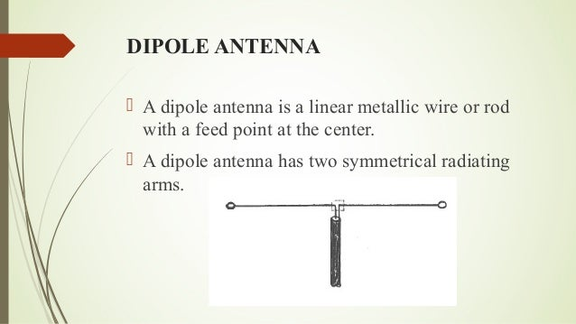Half wavelength dipole antenna
