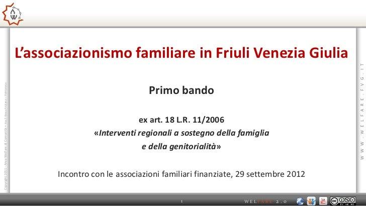 L'associazionismo familiare in Friuli Venezia Giulia                                                                      ...