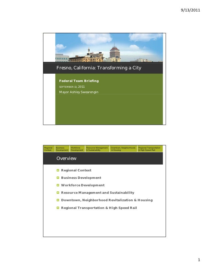 9/13/2011Regional   Business      Workforce     Resource Management   Downtown, Neighborhoods   Regional TransportationCon...