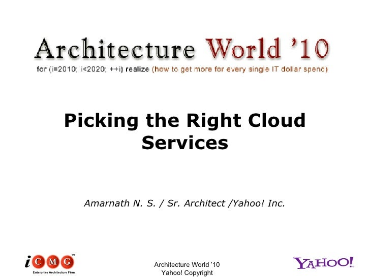 Using the CAP theorem as a way to pick Cloud Service providers