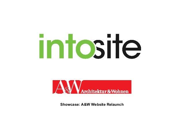 Showcase: A&W Website Relaunch