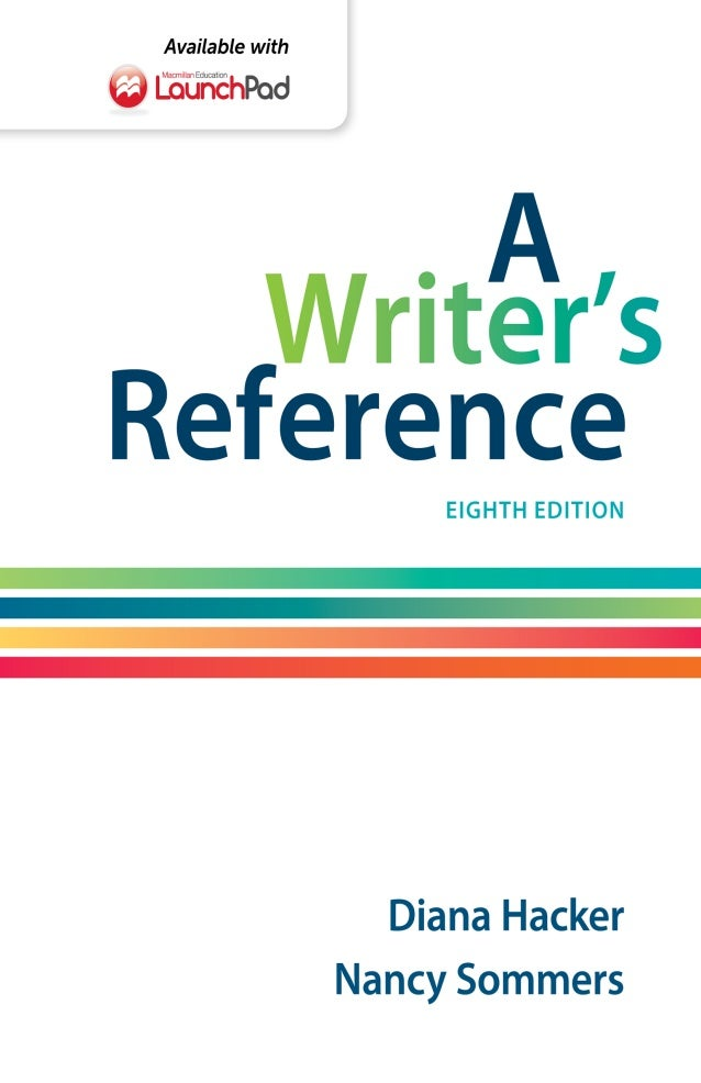 A writers reference 8th edition by diana hacker pdf free fandeluxe Choice Image