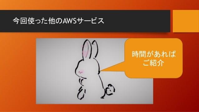 今回使った他のAWSサービス 時間があれば ご紹介
