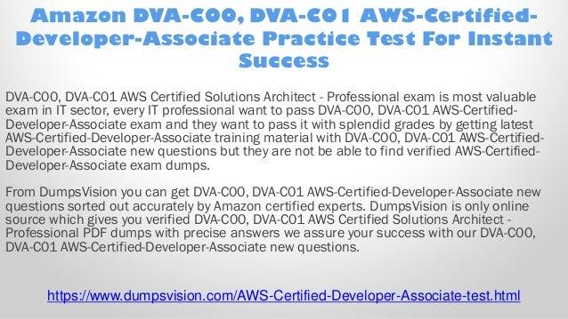 VCE Simulator Amazon AWS Certified Developer Associate Exam Dump Test PDF Q/&A