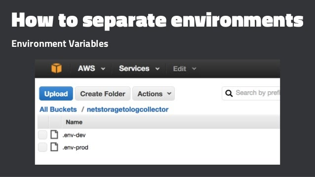 How to separate environments Environment Variables