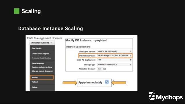 Scaling WW Database Instance Scaling