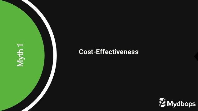 Myth1 Cost-Effectiveness