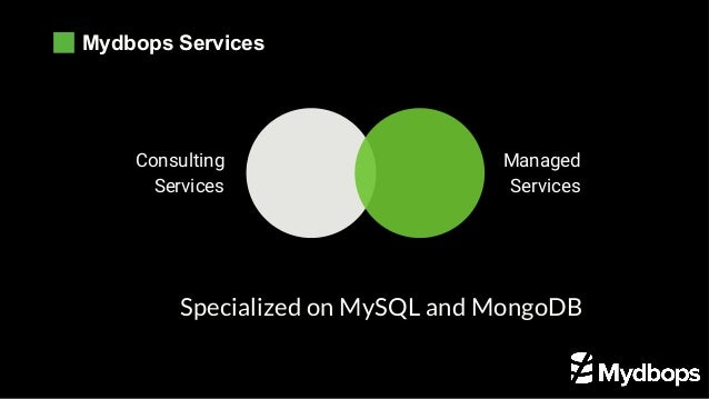 Mydbops Services Consulting Services Managed Services Specialized on MySQL and MongoDB