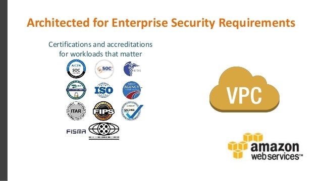 Architected for Enterprise Security Requirements Certifications and accreditations for workloads that matter