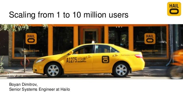 Scaling from 1 to 10 million users Boyan Dimitrov, Senior Systems Engineer at Hailo