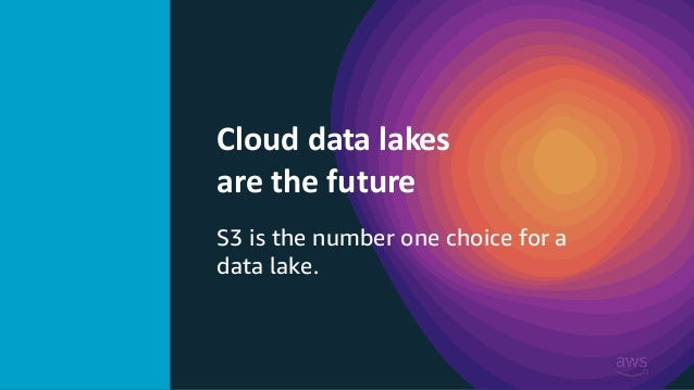 © 2019 @Sandy_Carter Cloud data lakes are the future S3 is the number one choice for a data lake.