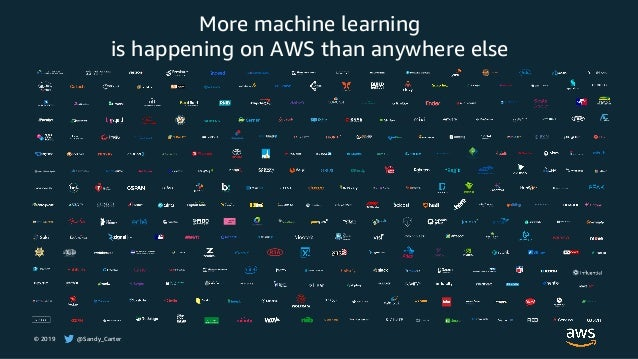 © 2019 @Sandy_Carter More machine learning is happening on AWS than anywhere else