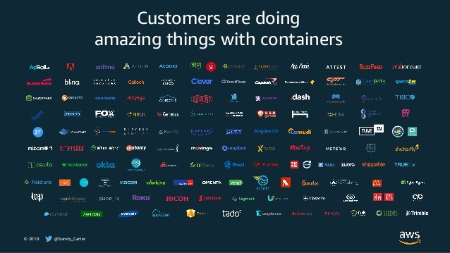 © 2019 @Sandy_Carter Customers are doing amazing things with containers