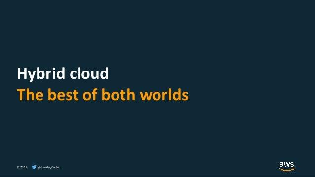 © 2019 @Sandy_Carter Hybrid cloud The best of both worlds