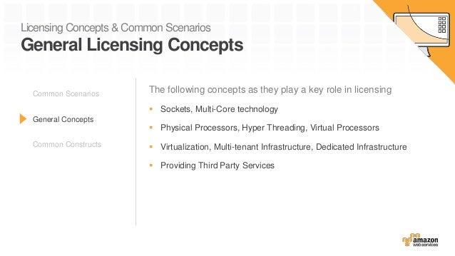 Licensing Concepts & Common Scenarios General Licensing Concepts The following concepts as they play a key role in licensi...