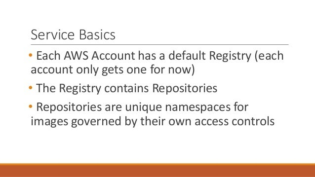 Aws elastic container registry for Service registry