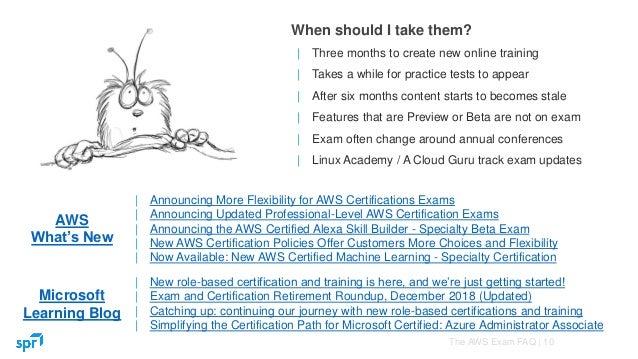 The AWS Exam FAQ - John Merline - Senior Consultant at SPR Consulti…
