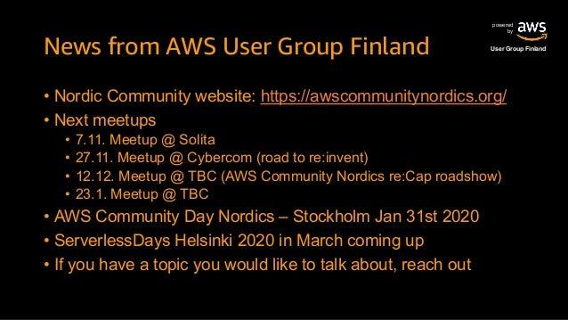 AWS Finland Meetup 2019 October Slide 3