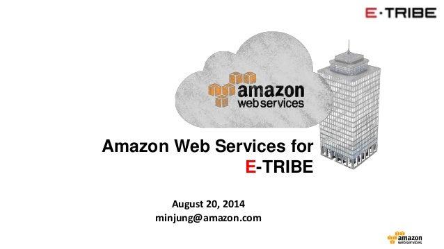 Amazon Web Services for  E-TRIBE  August 20, 2014  minjung@amazon.com