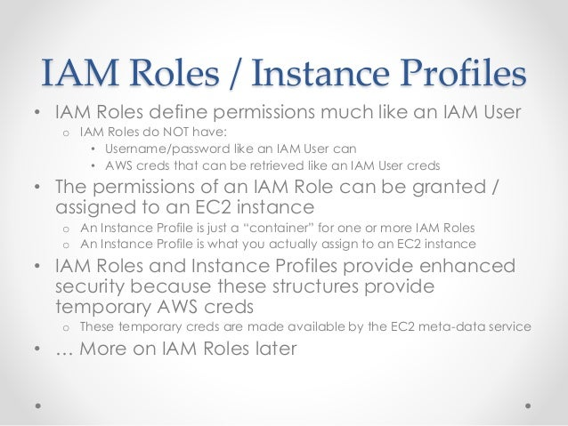 AWS IAM and security