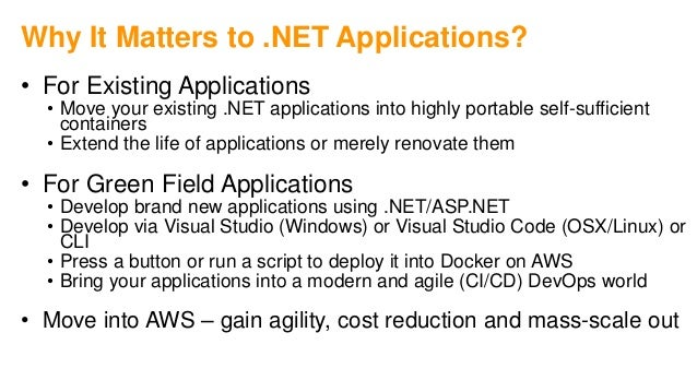 AWS Innovate: Moving Microsoft  Net applications one