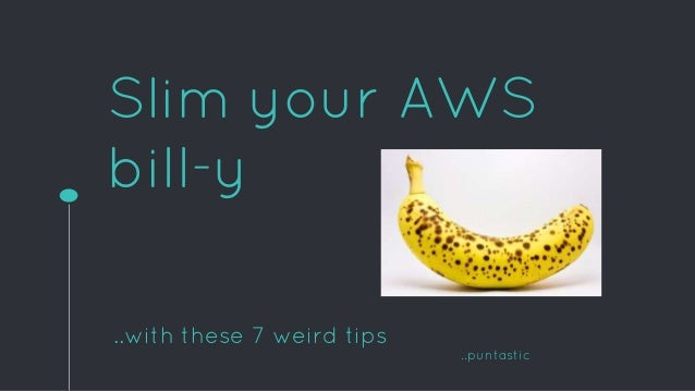 Slim your AWS bill-y ..with these 7 weird tips ..puntastic