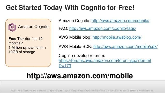 AWS Mobile Services: Amazon Cognito - Identity Broker and