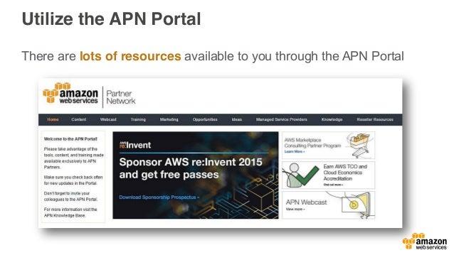 Partner Communications • APN Webpages • APN Blog • APN Newsletter • APN Twitter • APN Portal