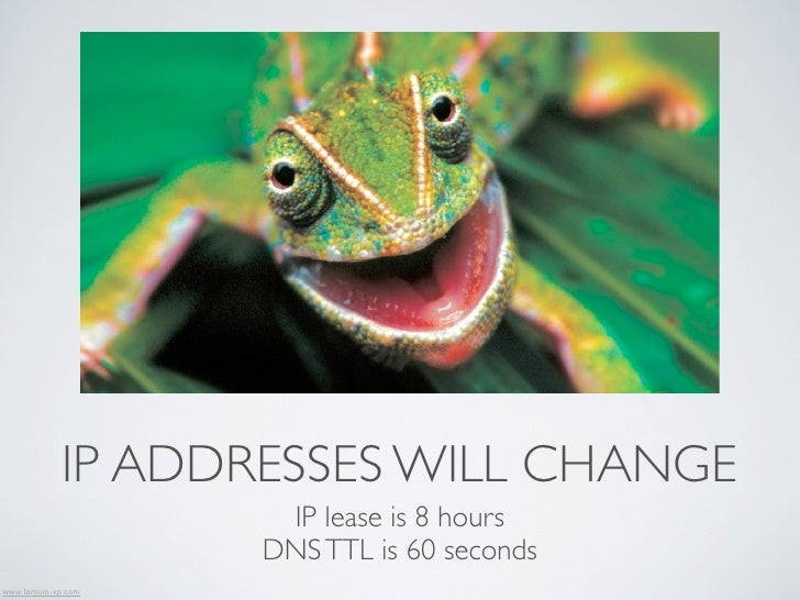 IP ADDRESSES WILL CHANGE                     IP lease is 8 hours                    DNS TTL is 60 secondswww.fantom-xp.com