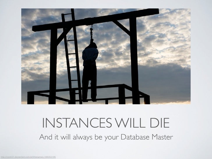 INSTANCES WILL DIE                                  And it will always be your Database Masterhttp://room57.deviantart.com...