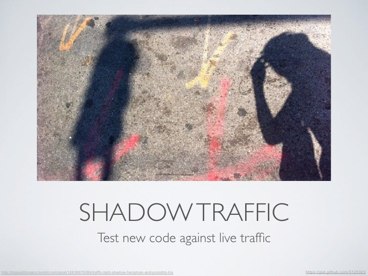 SHADOW TRAFFIC                                                    Test new code against live traffichttp://doppelthingers.t...