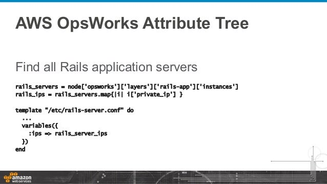 Aws opsworks chef at the hamburg chef user group 2014 for Chef template variables