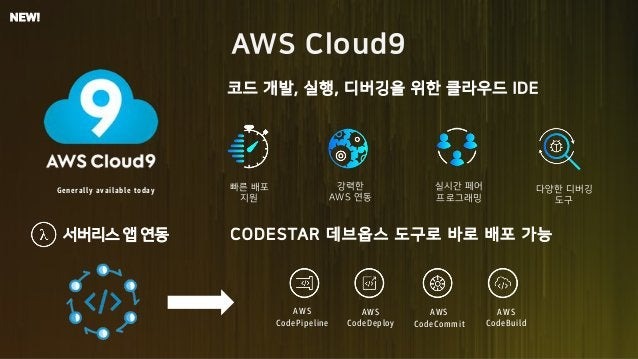 5JF 7WZ P2 89 Generally available today o 5KG m AWS CodePipeline AWS CodeDeploy AWS CodeCommit AWS CodeBuild 7C89GH5F k NE...