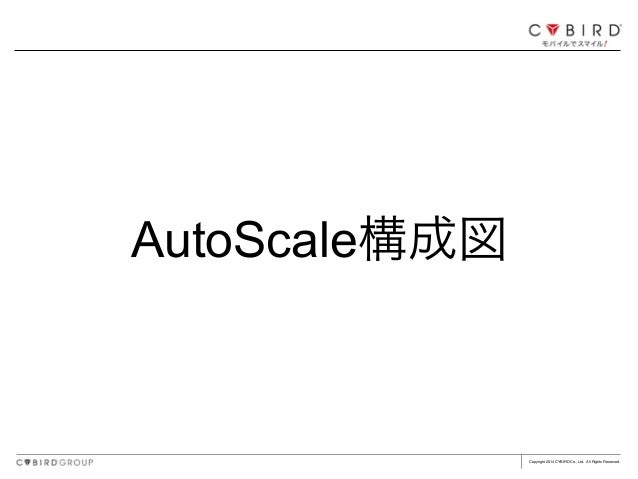 Copyright 2014 CYBIRD Co., Ltd. All Rights Reserved. AutoScale構成図