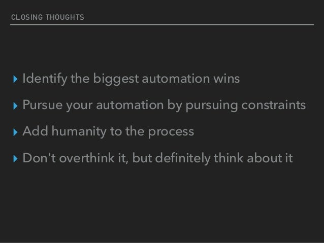 TIAD - Is Automation Worth My Time?