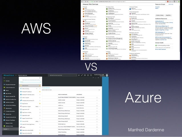 1 AWS Azure VS Manfred Dardenne